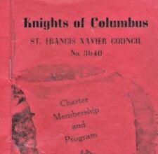 Knights Of Columbus KC 3640 Charter Member Program 1953 Brookings SD Catholic