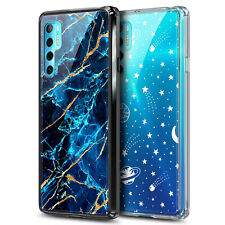 For TCL 20S / TCL 20 Pro 5G Case Shockproof Hard PC Cover With Tempered Glass
