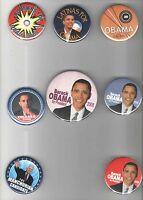 8 OBAMA  2008 pin UNUSUAL campaign pinback button