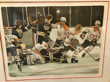Hockey 1977 Stanley Cup Donato Lithograph Montreal Canadiens Boston Bruins RARE