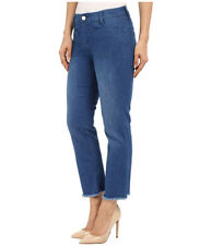 Sanctuary Women's Jeans Size 27 Marianne Blue Frayed Hem Straight Crop NWOT