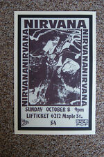 Nirvana Concert Tour Poster 1989 Omaha Lifticket