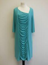 Tolles Modern Elegantes Cocktail Party Stretch Langes Kleid Etuikleid Gr:48 Blau