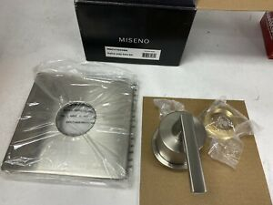 Miseno Elysa Nickel Single Handle Pressure Balanced Shower Bath Valve Trim Kit