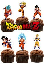 Dragon BALL Z wafer commestibile carta Stand Up Cake Topper x 24 (Thick Qualità WAFER)