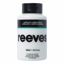 Reeves Acrylic Paint - 400ml Titanium White