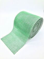 Sparkly Diamante Effect Ribbon Green Colour Trim Sewing Wedding Crafts UK