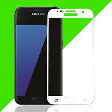 3D Displayschutz Hartglas für Samsung S6 Panzerfolie Schutzglas 9H Schutz Weiß