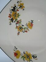 "Homer Laughlin China Plate Rare Pattern ""Yellowstone"" Red Yellow Black Green 7"""