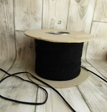 Black Faux Suede Leather Cord - 3mm Suedette - Price per 2m - UK Seller -