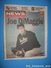 ~3/9/1999~JOE DIMAGGIO COMMEMORATIVE~Philadelphia Daily News Jersey Edition~