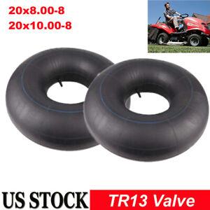 Two Inner Tube for 20x8x8 20x10x8 Lawn Mower Tire Tube TR13 Straight Valve Stem