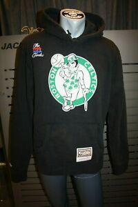 Mitchell And Ness Boston Logo Hoody Boston Celtics Black NBA Finals 1986