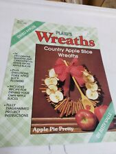 Plaid's Country Apple Slice Wreaths by Betty Valle 1987 - fully diagram project