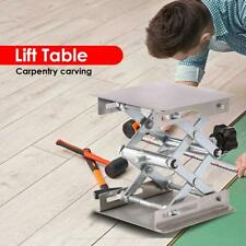H3E# Aluminum Router Lift Table Woodworking Engraving Lab Lifting Stand Rack