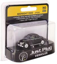 HO scale Woodland Scenics Just Plug Lighted Vehicle Midnight Ride Car JP5591