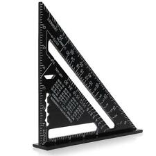Metric Aluminum Alloy Triangle Ruler Black Triangular Rule 260x185x185mm 7 Inch