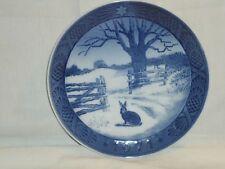 "Royal Copenhagen ""Hare In Winter"" 1971 7"" Plate"