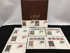 United Nations UNICEF Flag Series Albums W Stamps First Day Issue Cover Art 1983