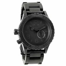 Nixon Mens 42-20 Black Stainless Steel Analog Quartz Watch A035-001-00 A035001