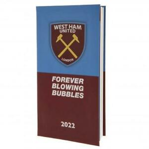West Ham United FC Football Club Pocket 2022 Hardback Diary Week to View WHUFC