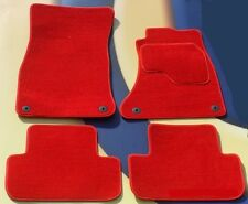 HONDA CIVIC & TYPE R 2012 ON 5 DOOR MODEL BRIGHT RED CAR FLOOR MATS WITH CLIPS B