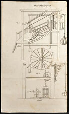 1852 - Engraving Arts Machine Heads Cranes (1) . Science
