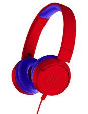 NEW JBL JR300 Kids On-Ear Headphones - Red