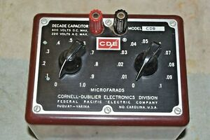 CORNELL-DUBILIER CDB-3 DECADE CAPACITOR BOX maroon Bakelite