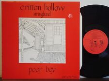 CRITTON HOLLOW STRINGBAND Poor Boy RARE EXC 1979 YODEL-AY-HEE LP Hammer Dulcimer