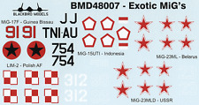 Exotic MiG's 1/48th scale decals
