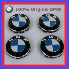 4x Original BMW Nabenabdeckung mit Chromrand für Alufelgen 68mm