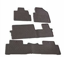 NEW Black Rubber All Season Floor Mat Set Genuine fits Honda Pilot 2009-2015
