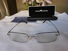 FRANK CUSTOM FM3006 53[]19 138 Rimless Eyeglasses w/ Prescription Lenses