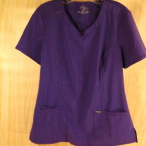 Cherokee Infinity Women's Scrub Top Purple Size M