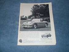 "1960 Austin Healey Bugeye Sprite Vintage Ad ""Love at First Sprite"" 3000"