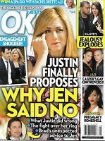 Ok Magazine Jennifer Aniston Justin Theroux Kanye West Kim Kardashian Rihanna