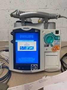 Philips HeartStart MRx M3535A NIPB ECG SPo2 w/ All Accessories