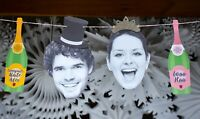 photographic wedding bunting - personalised funky just married banner - mr & mrs
