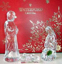 Waterford Nativity Holy Family 3 Piece Figurine Set Jesus Mary Joseph 164970 New