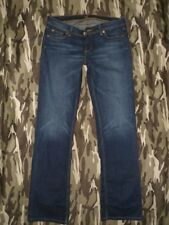 MISS BISOU MB 29 Low Rise Designer Faded Feathered BOOTCUT Stretch Jeans 32x34