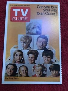 brady bunch tv guide Collectors Card 1972