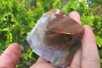 Super Seven Amethyst Red Tip Raw crystal rare collectors Melody stone point 187g