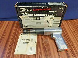 Sears Craftsman Air Drive impact Hammer Long Barrel 18915 Pneumatic Chisel USA