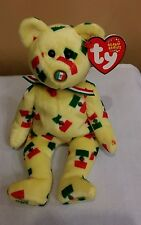 Ty Beanie Baby PINATA the Mexican Bear w/ Mexican Flag Nose 2003, Retired & New