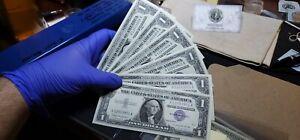6 Consecutive $1 1957 B Silver Certificates GEM Uncirculated