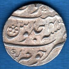 MUGHALS - AURANGZEB - AH 1110/RY 43 - JUNAGADH MINT - ONE RUPEE SILVER COIN #B85