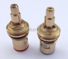 1/2 Replacement Brass Ceramic Disc Valve Tap Cartridge Insert Basin Bath Pair