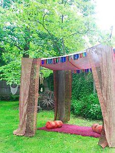 Sari BED CANOPY, Canopy Bed Curtains, Wedding Chuppah, Boho Tent, pavilion