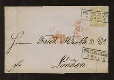 GERMANY 1869 POTSDAM RAILWAY STATION BOXED + EMBOSSED LETTERHEAD L JACOBS